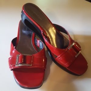Calvin Klein Red Slides Yanni